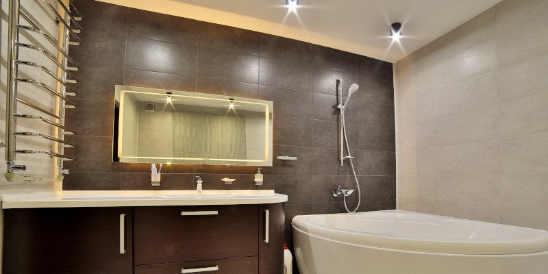 Kitchen Electrics - Dark Bathroom - JAH Electrical Services