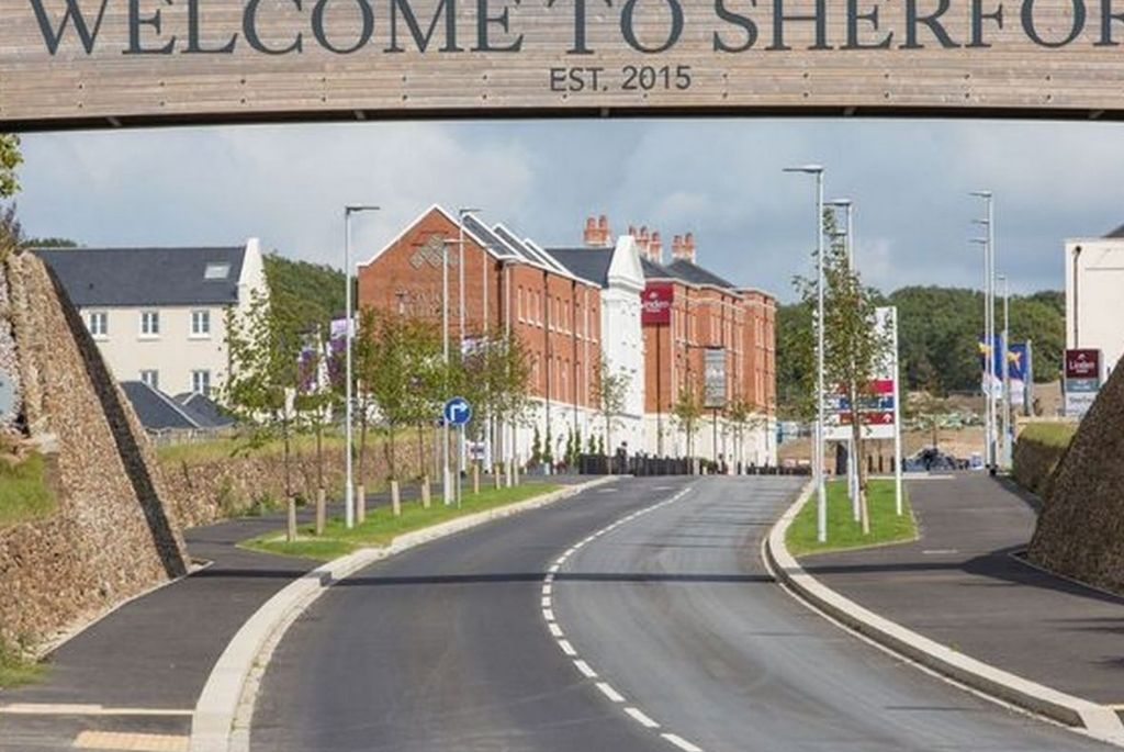 Electrician in Sherford: Image of the entrance to Sherford town.