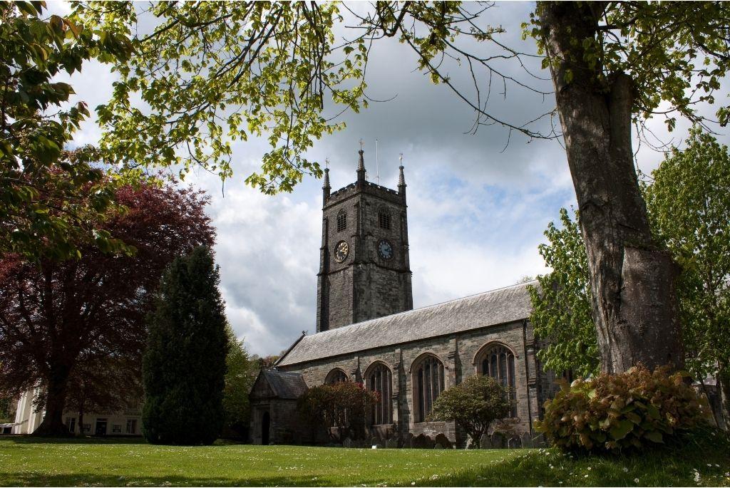 Electrician in Tavistock: Image of the church in Tavistock town centre.